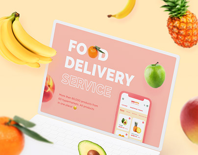Website of delivery service