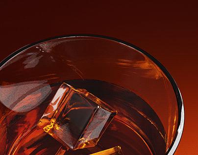 3D Rendering Whiskey Glass