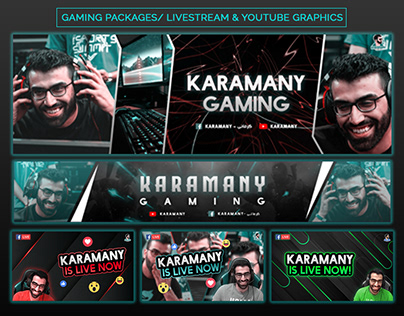 Gaming Packages - Livestream & YouTube & Logo Graphics