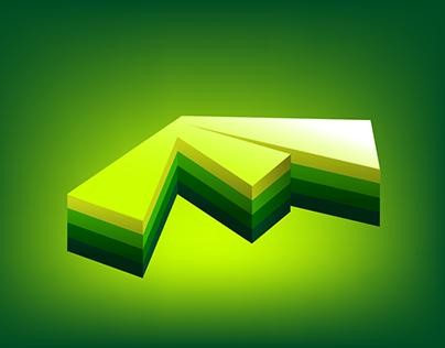 F Logo Design (3D)