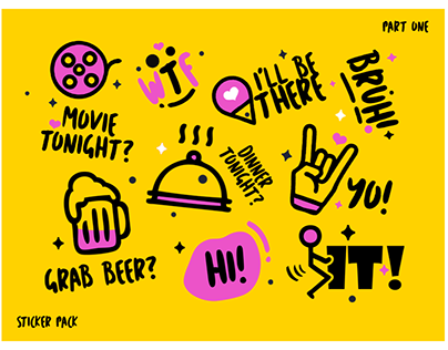 Simple Stickers Pack design. (part1)
