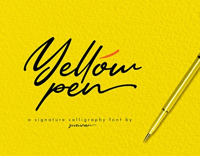 Free Yellow Pen Script Font