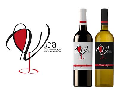 """Дизайн упавковки красного и белого вина """"Vea Breeze"""""""
