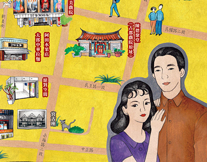 台南古戲院地圖 - map design