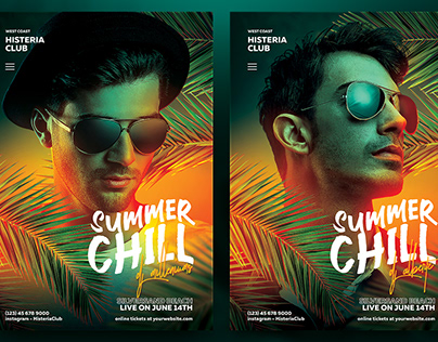 DJ Flyer Template Summer Chill