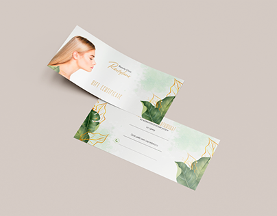 Design leaflet for amazing Beauty Clinic