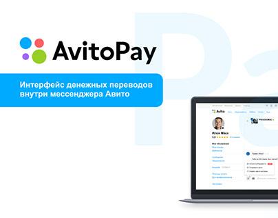AvitoPay - интерфейс денежных переводов