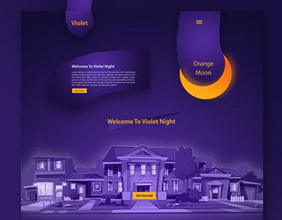 Violet Night for kids - Website Design
