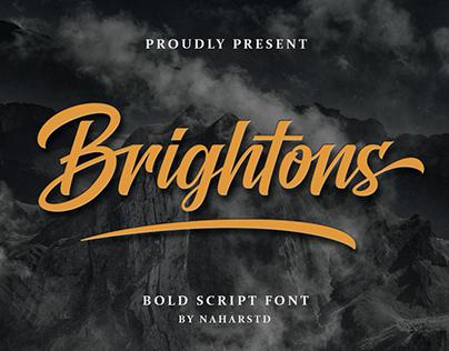 FREE | Brightons - Bold Script