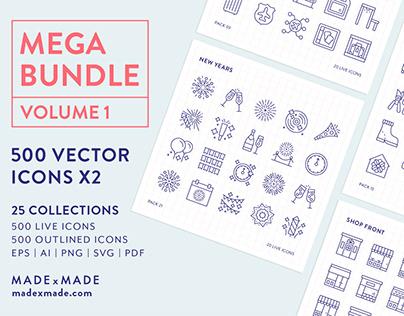 Line Icons – Mega Bundle Volume 1