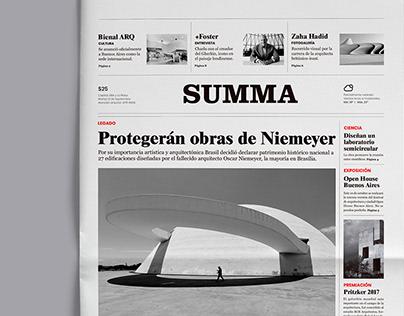 Summa - Newspaper