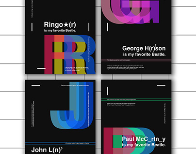 My favorite Beatle - minimal typo/graphic posters