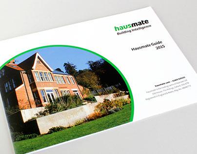 Hausmate Brochure: design and illustration