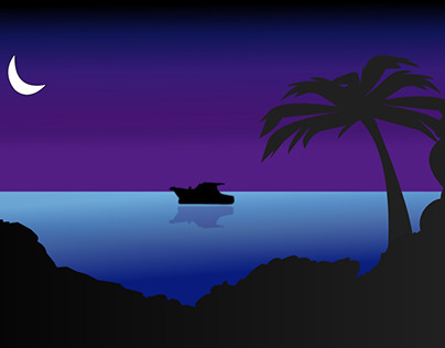 Ocean Sailing Landscape