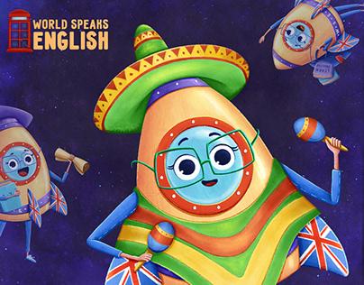 BRAND CHARACTER DESIGN for English language school