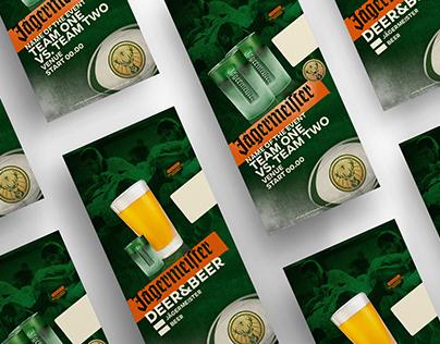 Promotional materials for Jägermeister sport campaigns
