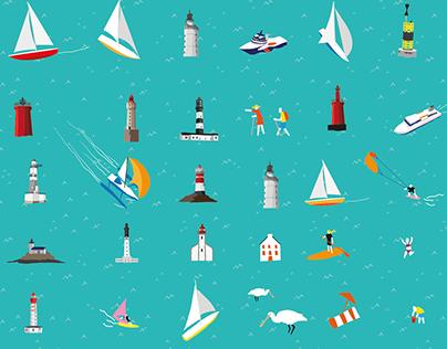 Affiche Tour du Finistère à la voile - Finistère 360