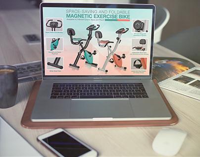 Harvil Magnetic Bike - Amazon (Enhance Brand Content)