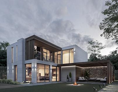Visualization Modular house Qhome Ukraine