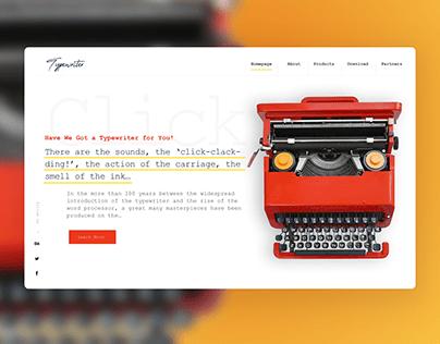 Typewriter Website Concept Design 💥