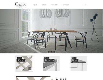 Gioia Furniture Website Design (2017)