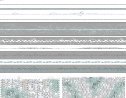 Knit Swatches: Part 2 of Arctic Lines