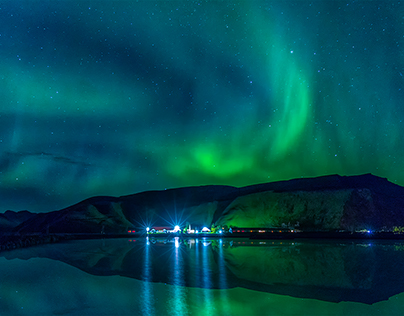 Northen Lights in Vik by autumn 2015