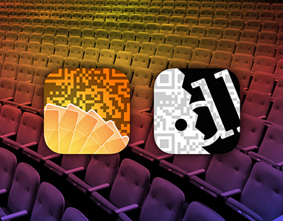 Ticket scanning app icon and promtioanl graphics design