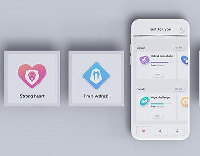 Neumorphic app design
