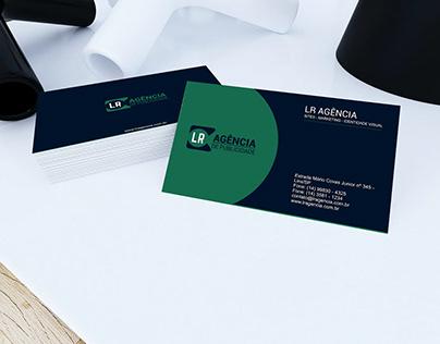 Cartão de visita LR Agência