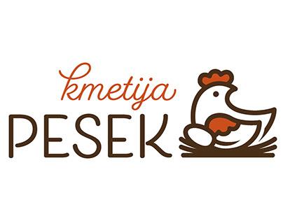 Logotip Kmetija Pesek / Kmetija Pesek identity