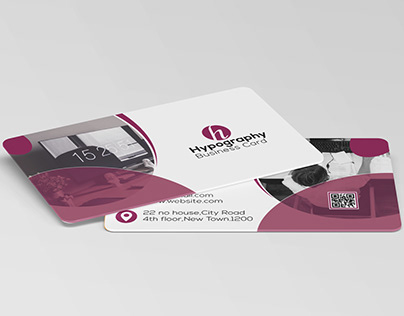 Rounded Shape Business Card