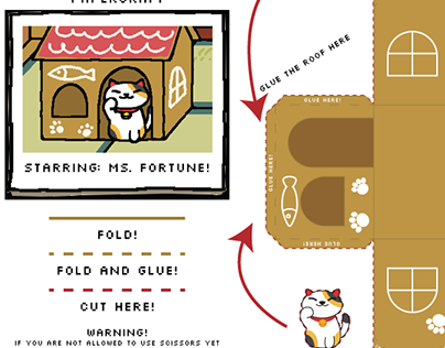 Kitty Collector Papercraft