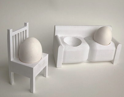 Chair and Couch Egg Cups