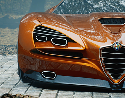 ALFAROMEO MONTREAL CONCEPT - UNREAL CINEMATIC
