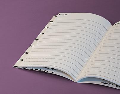Open Notebook Free Mockupby Brando.ltd