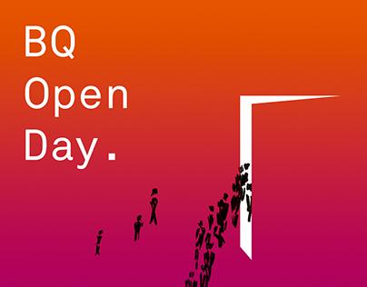 BQ Open Day. Branding and exhibition design.