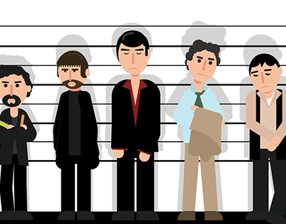 Unusual Suspects - Geometric Flat Illustration