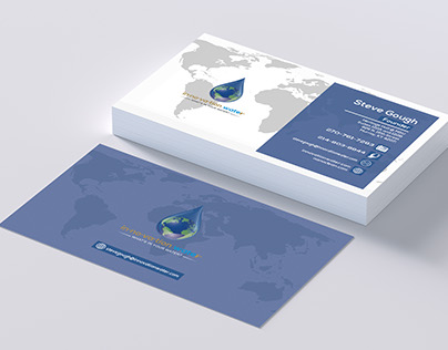 Water Company Business Card