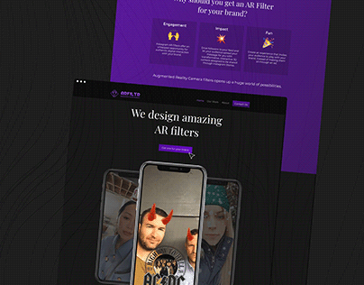 Landing Page   AR Filters Agency