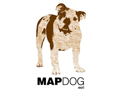 Map Dog T-Shirt Design