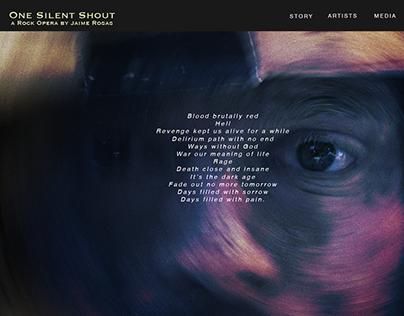 One Silent Shout - Diseño web