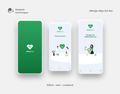 Medical App Splash & Onboarding screen auto animation