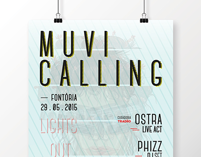 MUVI CALLING party // poster, banner, fb covers, flyers