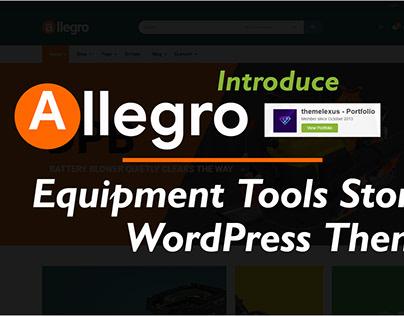Allegro WP Theme Equipment & Tools WordPress Theme