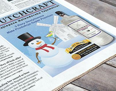 Dutchcraft Vodka Newspaper Ads
