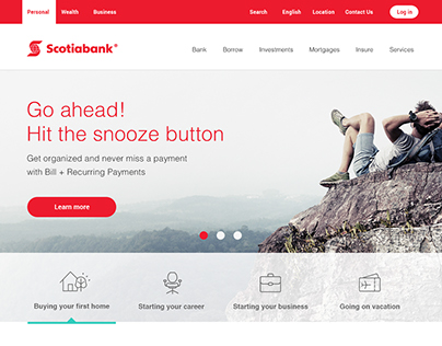 SCOTIABANK CONCEPT HOMEPAGE WIP
