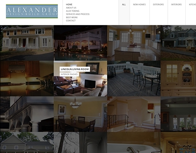 Alxander Design and Build Website - USA