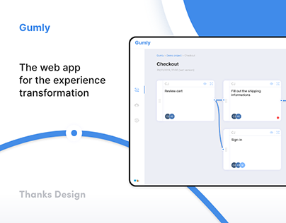 Gumly – Customer experience web app UX/UI design