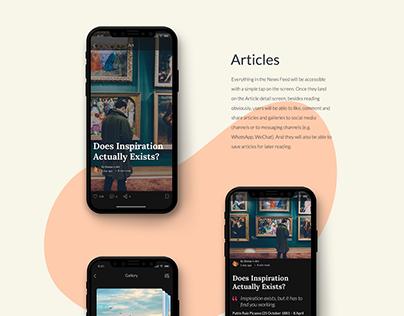 Blogger App UI/UX Design Sneak Peek